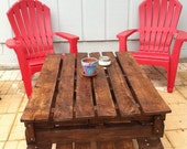 Items Similar To Pallet Furniture Indoor Outdoor Table On Etsy
