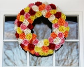 Handmade Paper Roses Wreath