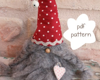 Pattern: Gunnar the gnome - Gnome pattern - nordic gnome pattern - Nisse pattern- Christmas gnome pattern