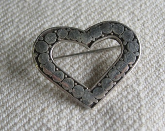 Sterling silver heart pin...
