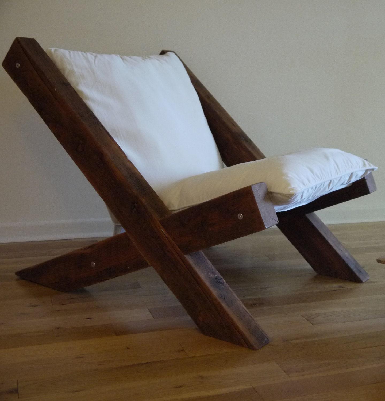 Barn wood lounge chair