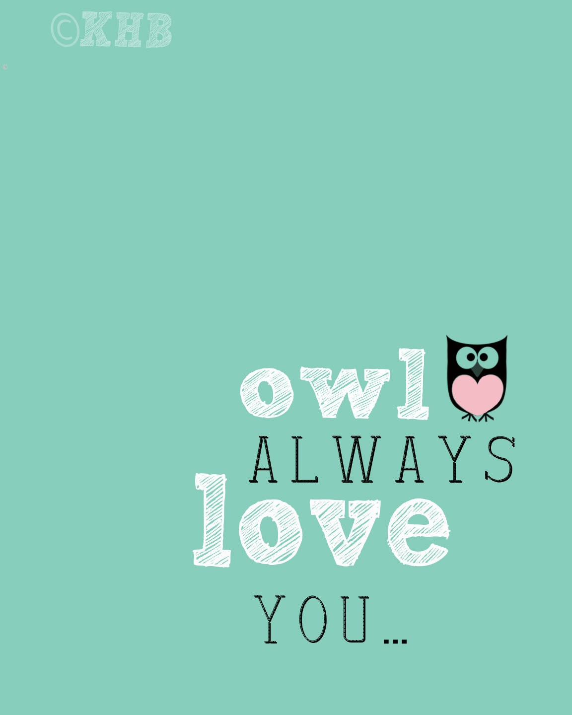 Owl Always Love You Kids Room Art Baby Children by ...