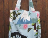 Mountain view canvas tote bag