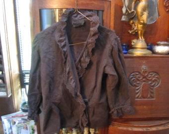70s vintage ralph lauren  goth, steampunk ,vampire wrap blouse.