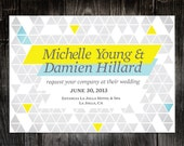 Equilateral Printable Invitation Set