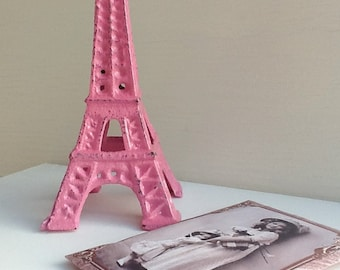 Pink Cast Iron Eiffel Tower Wedding Shower Party Paris Inspired Housewares