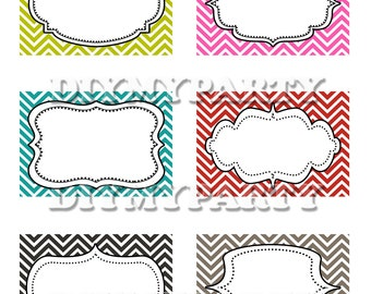 Blank Printable Label Party decor printable blank fancy labels blank ...
