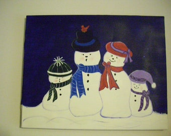Snow People on Canvas