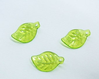 11x17mm Leaf Acrylic Bead - Lot 1000 pieces- Necklace - Bracelet - Charm -
