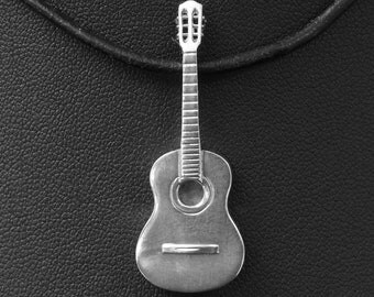 Silver Classical Guitar Pendant