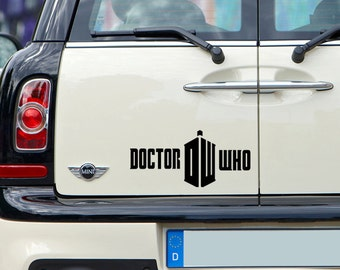 Doctor Who Logo Decal