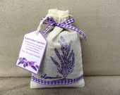 Large organic lavender sachet in muslin bag, hand-made - Christmas gift, stocking filler