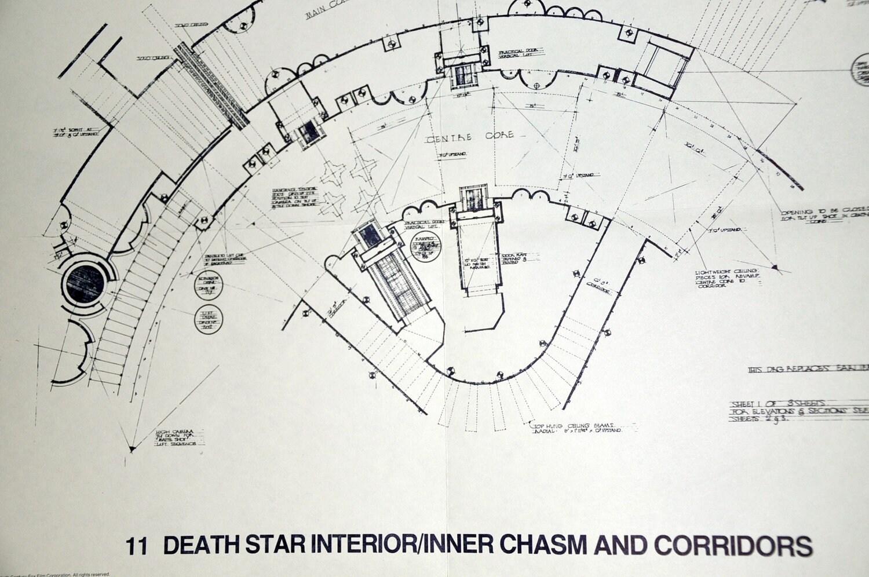 DEATH STAR Chasm And Corridors Star Wars Vintage - Death star blueprints