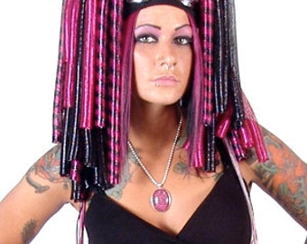 Pin-Up Punk Cyberlox Falls with Rexlace (Crin, Hair, Dreads, Wig)
