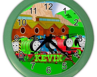Personalized Thomas The Thank Engine Name Wall Clock