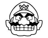 Items similar to Wario Mario Brothers laptop car decal sticker ...
