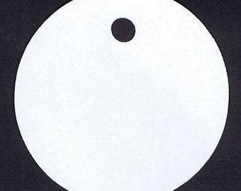 """25 Circle cardstock Tags 2.5"""" diameter"""