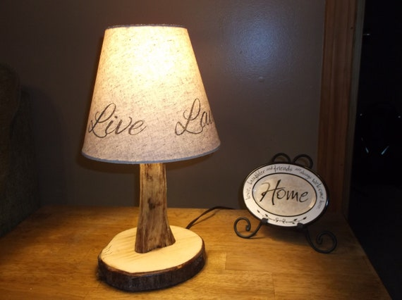Unique Handmade Wood Lamp Made From Maine Wood By
