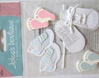 New - Jolees Boutique Dimensional Stickers Babys 1st Steps 5pcs