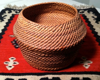 Vintage Woven BASKET with Very SMALL WEAVE