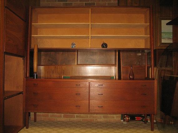 danois moderne vintage teck commode bahut buffet armoire de. Black Bedroom Furniture Sets. Home Design Ideas