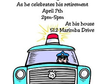 Police retirement party invitations-852