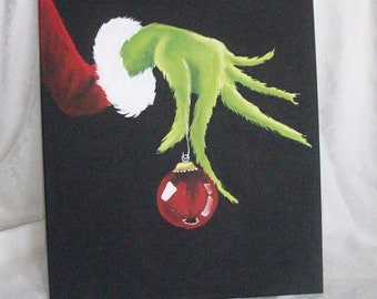 The Grinch Hand Painted canvas 11x14