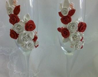 Wedding Champagne  Flutes
