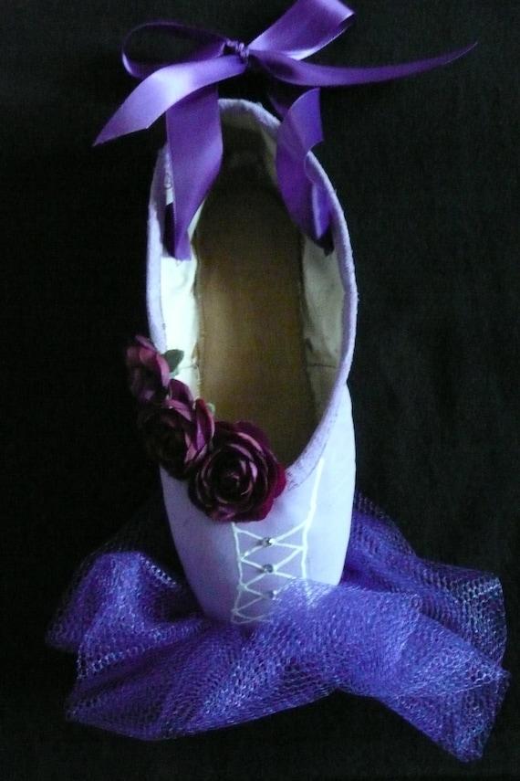 Items similar to Decorative pointe shoe - purple tutu on Etsy