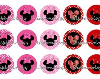 1 Inch Minnie Mouse Bottle Cap Graphics 4x6 15 Images Per Sheet