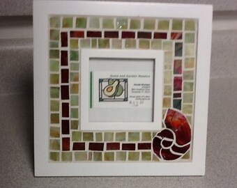 Stained Glass Mosaic Nautilus Picture Frame