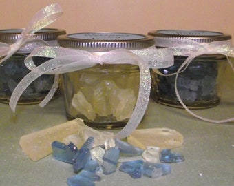 Homemade Sea Glass Candy in a 4 oz jar