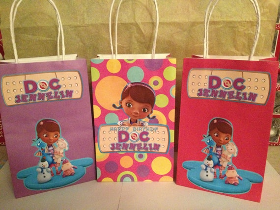 Gift Ideas For Mc At Weddings: Items Similar To Doc McStuffins Favor Goody Bags On Etsy