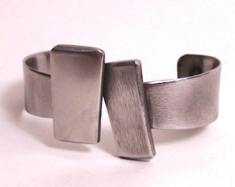 Stainless Steel Bracelet Made from Recycled Metal