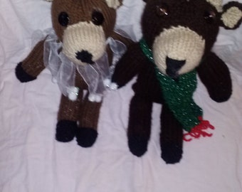 reindeer stuffed animal set
