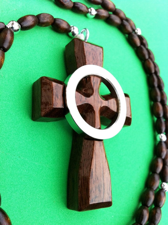 boondock celtic cross rosary necklace uniquely engraved