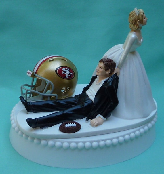 funny wedding cake toppers soccer wedding cake topper san francisco 49ers sf football themed w 14606