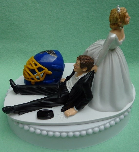 wedding cake topper st louis blues saint hockey themed w bridal