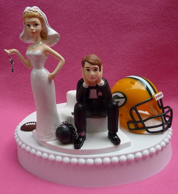 green bay packers wedding cake topper wedding cake topper green bay packers gb football themed 14965