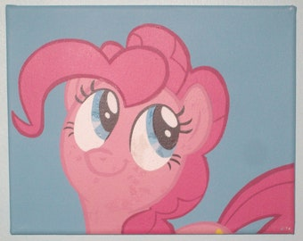 Pinkie Pie painted canvas