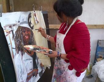 large custom painted portraits