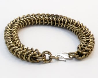 Brass Bracelet - Inca Puño Weave