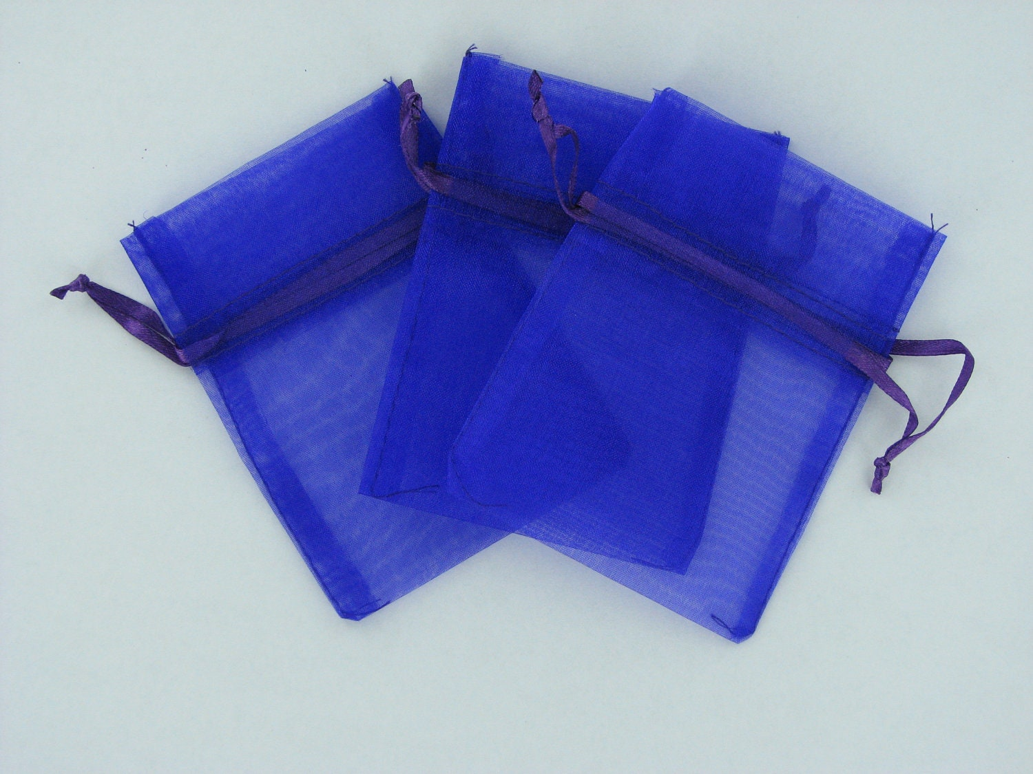 purple organza bags 3 inch x 4 inch 12 pieces