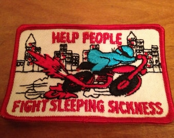 1970s Patch..Help People Fight Sleeping Sickness