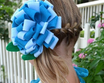 Double Ruffle Felt Flower