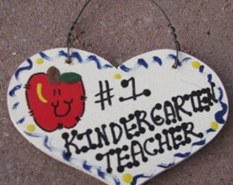 Teacher Gifts Number One 804 Kindergarten Teacher