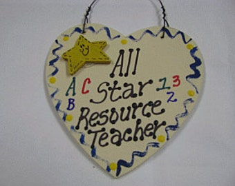 Teacher Gifts All Star Resource Teacher Handmade