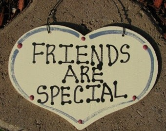 Wooden Large Heart Friends Are Special