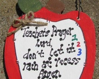 Teacher Gifts 691 Teacher Prayer Apple