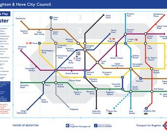 """24x10"""" - Brighton Underground on Canvas"""
